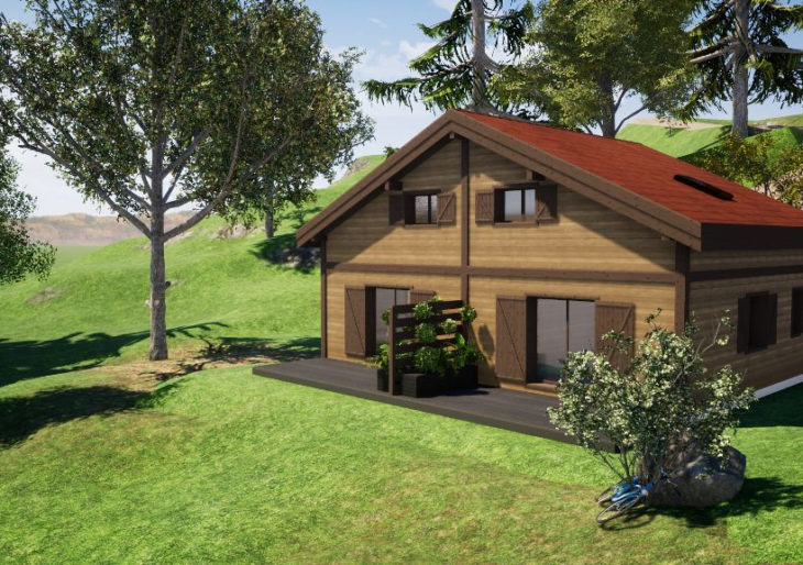 EXCLUSIF ! LA BRESSE :  DEMI-CHALET NEUF – 3 CHBRES ! - CH2217AC