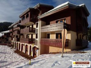 LA BRESSE : sur le front de neige, bel appartement F2 esprit chalet.