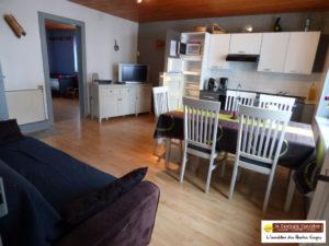 LA BRESSE, F3 vendu meublé, 52 m², au sud, , dans agréable vallée  à LA BRESSE